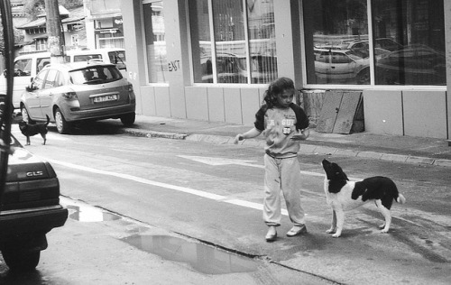 Girl with dog on Flickr.