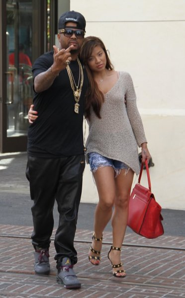 The Dream with his new fiance at the The Grove yesterday…