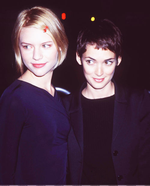 "Claire Danes and Winona Ryder at the premiere of ""To Gillian On Her 37th Birthday."" (October 16, 1996)"