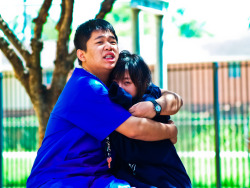 Chi Yen and her boo, Peidi, doing PDA at school. NAUGHTY!