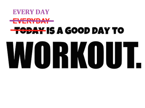 Every day = Each day.  Everyday = Ordinary.