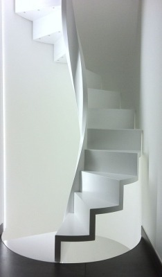 justthedesign:  White Spiral Staircase