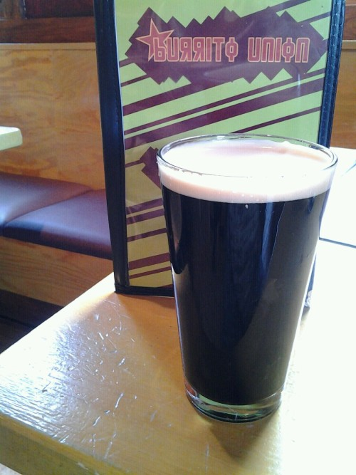 Fitger's Tugboat Irish Stout at Burrito Union.