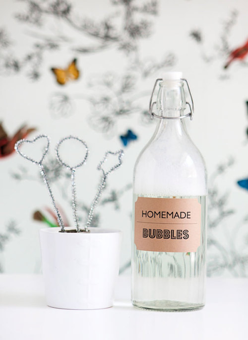 Homemade Bubble Solution(via Hello Bee)