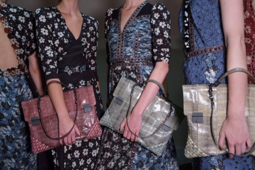 Backstage at Bottega Veneta. Yes!Yes!Yes!