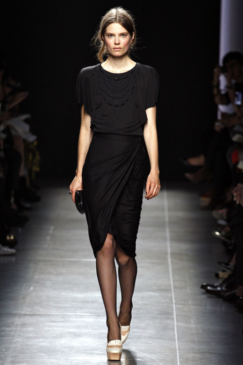 Best LittleBlackDress I've seen in quite some time. Bottega Veneta, Spring 2013. (Image via Vogue.com)