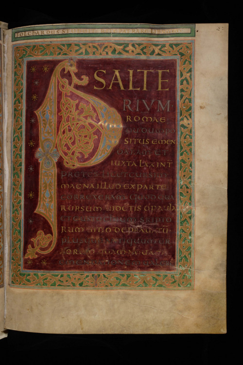 The Folchart Psalter, a masterpiece of late Carolingian illumination. By Virtual Manuscript Library of Switzerland on flickr.