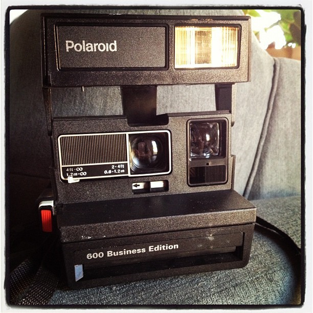 Polaroid 600 Business Edition. #thriftstorefind #polaroid  (Taken with Instagram)