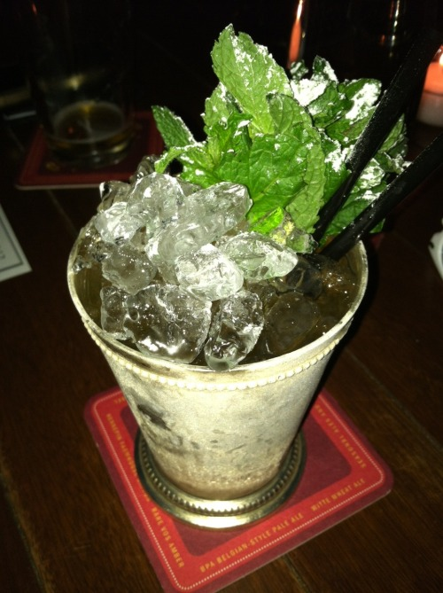 maxiessoutherncomfortmil:  Mint julep, Citizen Public House & Oyster Bar, Boston, MA, Sept. 2012