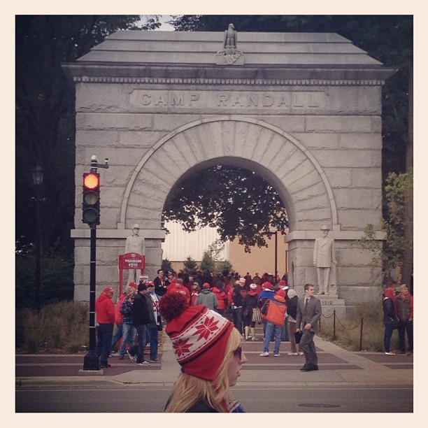 #badgers #football #wisconsin  (Taken with Instagram at Camp Randall Arch)
