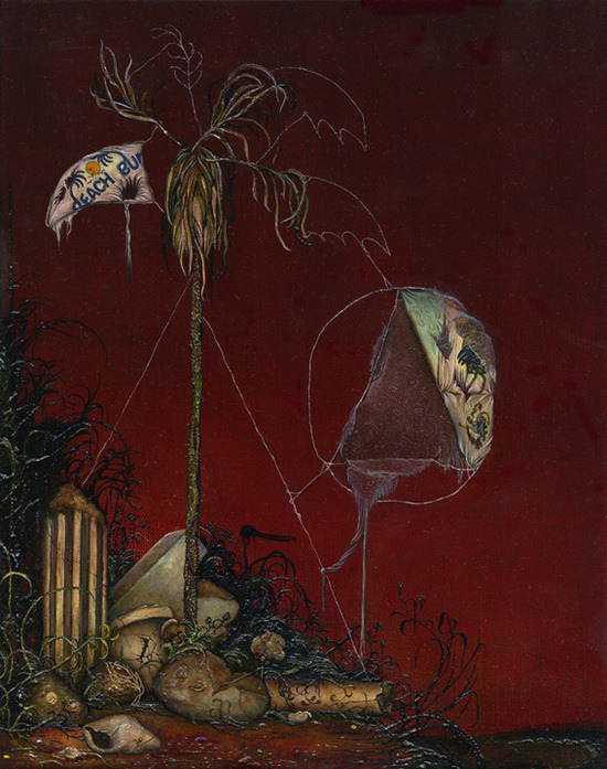 Anj Smith, Pastoralia, 2008 Oil on linen, 28 x 22 cm / 11 x 8 5/8""