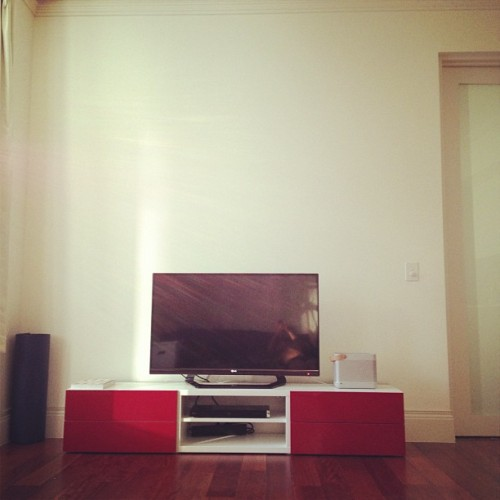 2.8m ceilings.. #FirstWorldTVforAppartmentoProblemo (Taken with Instagram)