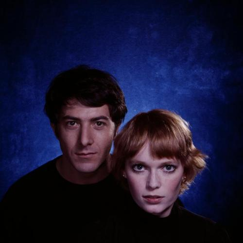 "Dustin Hoffman and Mia Farrow during the filming of ""John and Mary"" directed by Peter Yates, 1969 — Philippe Halsman"