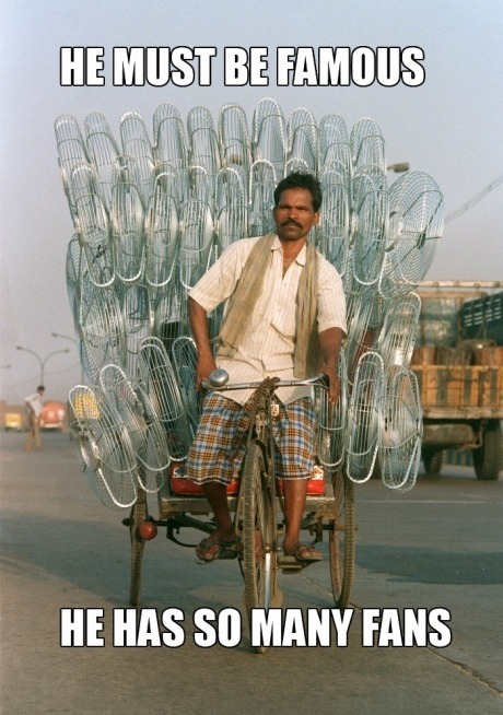 This guy has lots and lots of fans…wish I was as cool as him #Funny #Indian #bike #Fans