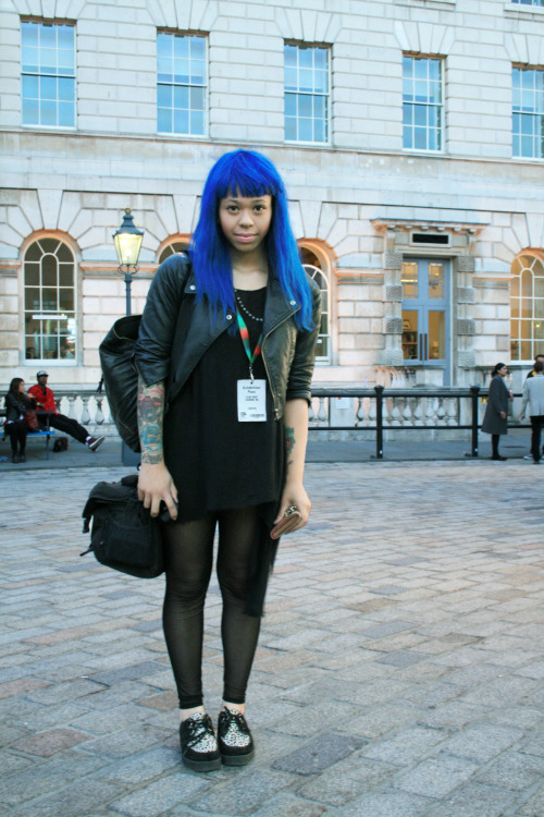 profiles98:  Elise Rose Street Style London Fashion Week  Images Provided by: Blaire Fraser & Stephanie Tassone