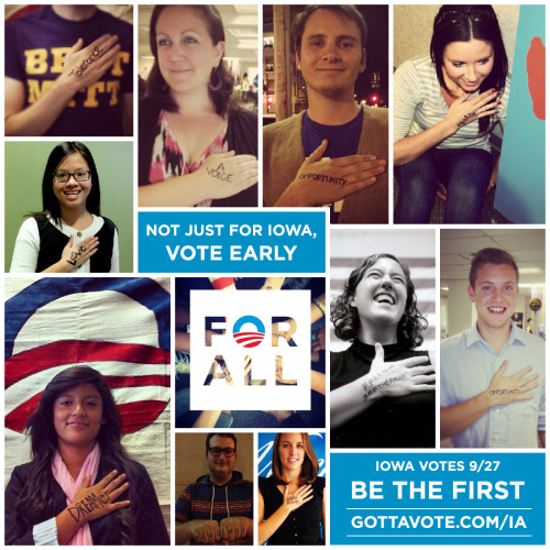 September 27th. Be the first to vote #ForAll, Iowa.