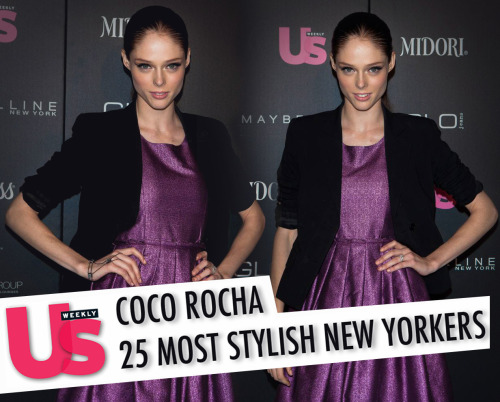"US WEEKLY - 25 Most Stylish New Yorkers Name: Coco RochaOccupation: Supermodel Perfect Blend: The Canadian-born stunner — who will be one of the coaches on Oxygen's new modeling competition The Face (episodes begin in early 2013) — describes her style as ""an eclectic mix of high and low fashion."" To wit, her wardrobe favorites include everything from a faux fur waistcoat she got when she was five (""It was once knee-length but now of course it's very snug. It's crazy that I still wear it 19 years later but I'm not thinking of retiring it any time soon!"") to a hot pink and orange Rebecca Minkoff purse (""Any time I feel like my outfit is a little boring, I'll throw on an orange lip and grab the Minkoff and I've instantly upped the voltage by 200 percent!"") to a black embellished jacket from Alice and Olivia (""It's got this great military/Michael Jackson style to it, which is completely up my alley""). Loving Ms. Liz: ""I've always been a huge admirer of Elizabeth Taylor,"" says the 24-year-old supermodel, who has graced the covers of Vogue, Harper's Bazaar and W, as well as appeared in ad campaigns for Versace, Chanel, Lanvin and Calvin Klein. ""She had such amazing class and style. The great thing about her is you know she picked everything herself, before the days of celebrity stylists taking all the fun out of it. At an auction I actually bought a Givenchy jumpsuit she had owned in the '80s and wore it to the Met Gala."" Another fashion icon: ""If I could dress as the female version of Karl Lagerfeld everyday, I probably would. I love that he is always Karl, all hours of the day and night. You'll never find him in sweatpants and a hoodie and that's true style commitment."" Aisle Be There for You: ""If ever I'm in need of a beautiful look for an event, nine times out of 10, I turn to Zac Posen. Not only is he a very close personal friend, but I find his gowns and dresses flatter a woman in all the right ways,"" says Rocha, who wore one of Posen's creations in her 2010 wedding to artist James Conran. ""I just walked in his fashion 2013 show and there were at least a dozen dresses I had my eye on. I loved mine, but I was in the wedding dress so I don't think I'll be wearing that out and about any time soon."" Quote: ""New Yorkers dress very dark and chic. When I'm spending my days stomping the streets of New York, I nearly always find myself in monochromatic shades of black and gray. I love my leather boots, leather jackets and hard protective layers. I guess we wear them almost like a suit of armor. In Paris, you'll see me in a cute little summery dress and when I'm in L.A., I finally bring out the colors. But I feel more myself in NYC."" Read more: http://www.usmagazine.com/celebrity-style/news/most-stylish-new-yorkers-2012-coco-rocha-2012129#ixzz27EoFPzgs"