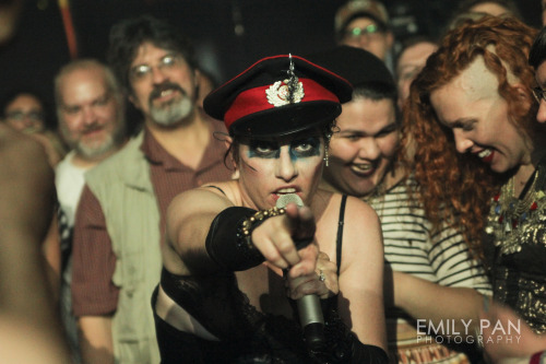 AMANDA PALMER AND THE GRAND THEFT ORCHESTRA | THEATRE IS EVIL Webster Hall, New York City, September 11th, 2012 See more at www.emilypanphotography.com/tagged/amanda-palmer!