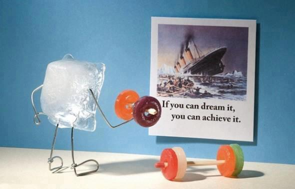 bent objects 'ice cube dreams' by terry border Adorable, but kinda horrible at the same time. So many emotions. via aseem kishore