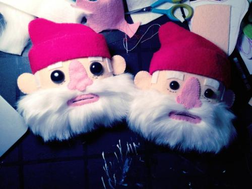 Here's a sneak peek at a couple Bill Murray / Steve Zissou plush prototypes by Michelle Coffee, currently being hand made for our upcoming Wes Anderson art show! The exhibit opens in just a few weeks, stay tuned for more!