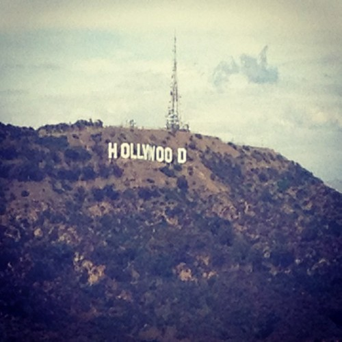 Finally saw it! Love sightseeing with dad! #hollywood #sign #landmark #starstruck (Taken with Instagram)