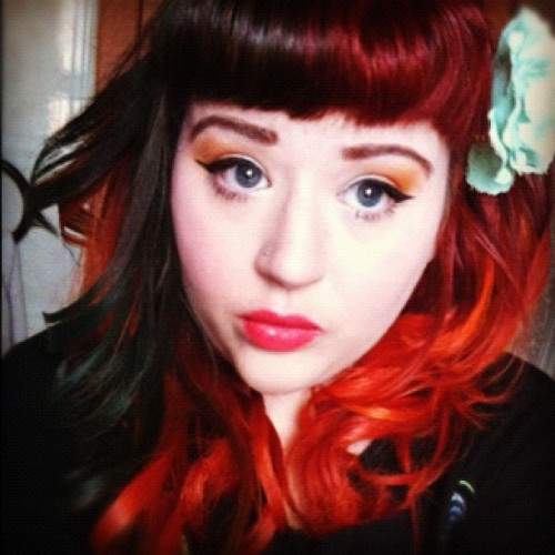 themarshalls-aredead:  I have started curling my hair like this quite a lot, absolutely love it!   Loveee my hair here! <3