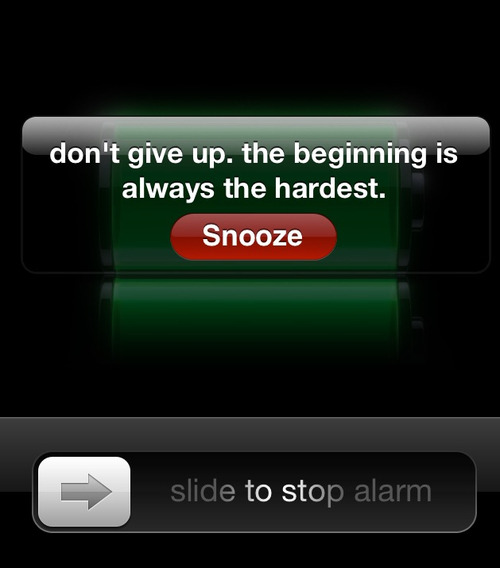 inspirinquotes:  Put an inspirational quote on your alarm everyday so when you wake up, you will be motivated and inspired.