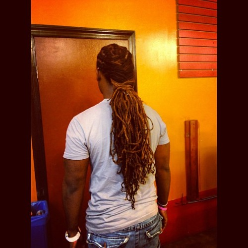 misterbrooklyn:  My locs are real long… Thinking what style to do… Something simple I guess #locs #dreads #hair  (Taken with Instagram)
