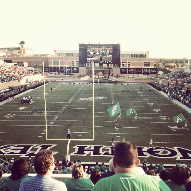 Touchdown Mean Green. #UNT  (Taken with Instagram)