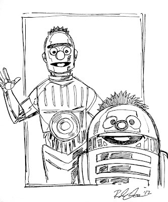 Rebekah Isaacs via Ashcan Allstars  Bert & Ernie as C3PO & R2D2