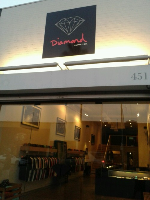Diamond supply Co. Store in LA Self Took Pic.