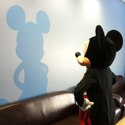 angelakreit:  Mickey and his shadow :) (Taken with Instagram)