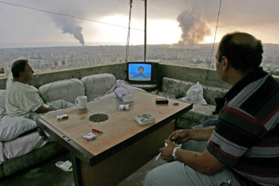 "damasian1:  ———- Let me guess: 1) are these people in Homs watching NasrAllah saying that there is nothing happening in Homs. 2) or are these ASSad's loyalists, ignoring ASSad's tanks and airplanes in reality, to believe ASSad's TV talking about the infamous ""armed gangs""?"