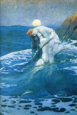 actegratuit:  Howard Pyle, The mermaid (1910)