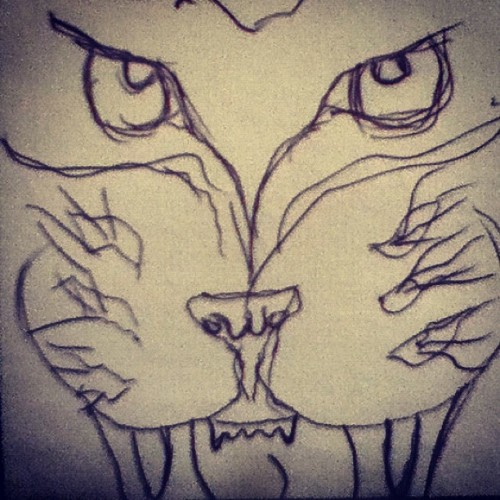 #rawr #drawing #bored  (Taken with Instagram)