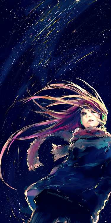 betweenbirthanddeath:  Falling Lights by `yuumei