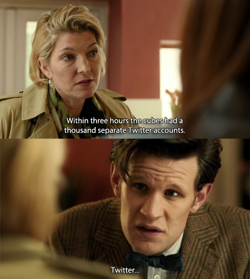doctorwho:  Twitter…   I don't like twitter…