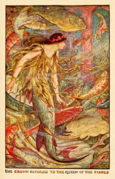 The Orange Fairy BookIllustrations by Henry Justice FordThe crown returns to the Queen of the Fishes