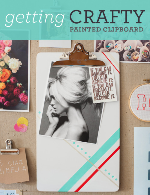 (via getting crafty: painted clipboard | Ampersand Design Studio)