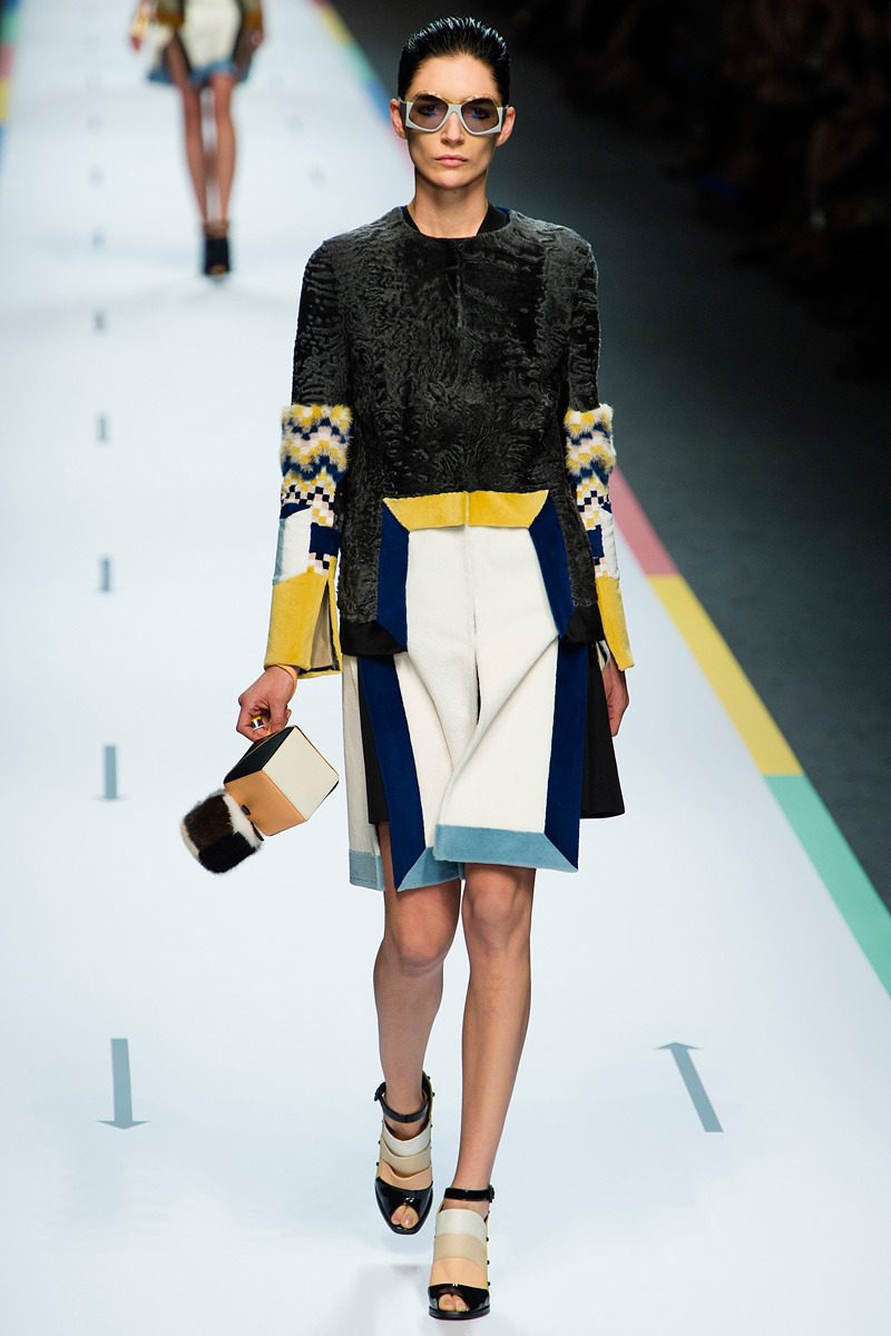 Fendi Spring 2013Photo: Yannis Vlamos/GoRunway.comSee the full collection on Vogue.com.