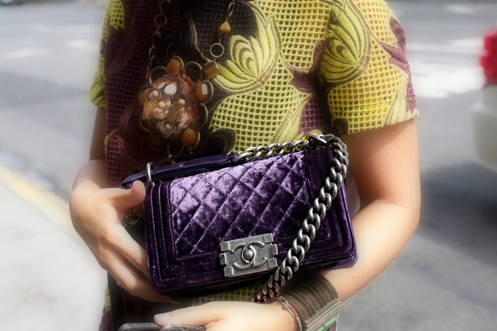 A velvet Chanel from Miroslava (image: refinery29)