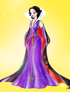 petitetiaras:  Disney Princesses modeling the Designer Villains gowns.