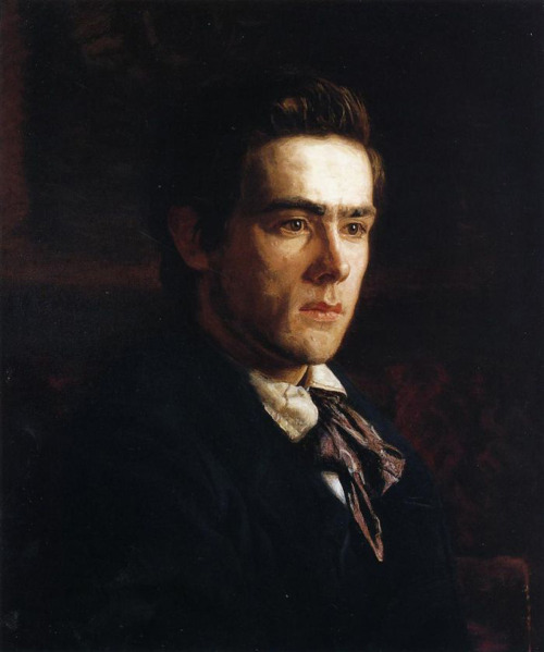 land:  Samuel Murray, portrait by Thomas Eakins, 1889