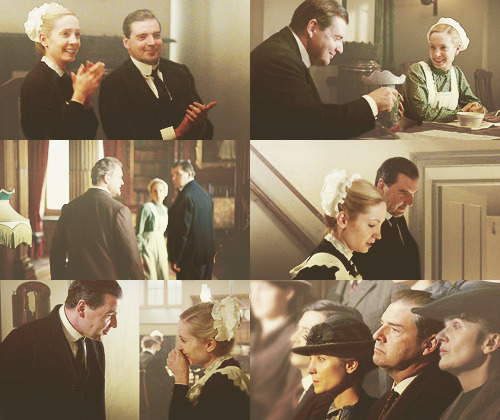 favorite caps of john bates and anna smith, downton abbey 1x02  Back in the day when things were simpler and they were happy and there was no Vera and no prison and their biggest problems were Thomas and O'Brien's scowls and I can't because everything has gone to hell! Damn you, Fellowes! Make my OTP happy again so they can make some babays!