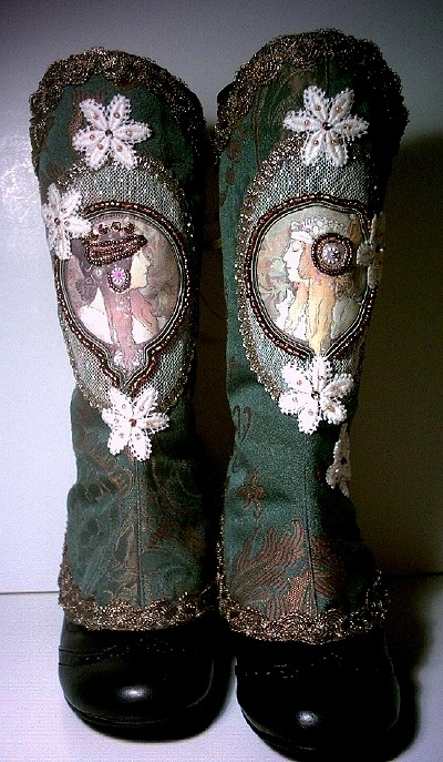 bootspats:  Mucha Spats by ~MAIDESTREASURIES