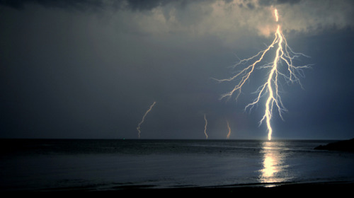 Sturla beach rainin' lightnings by Francesco Magoga Photography on Flickr.