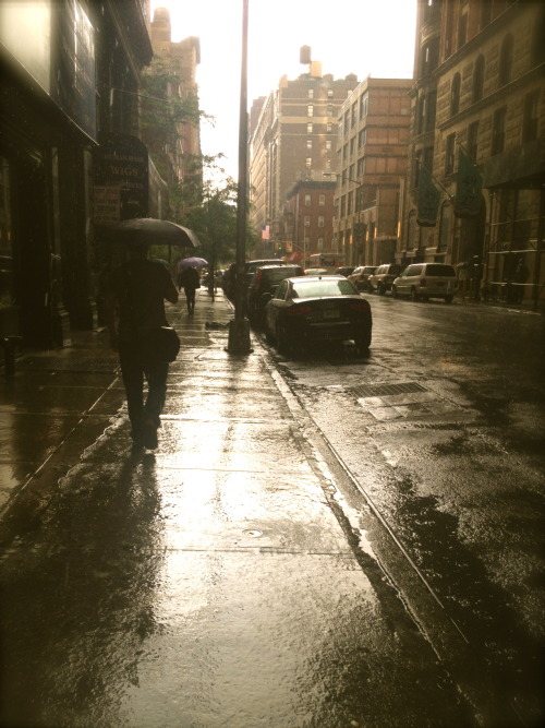 sun showers just north of Madison Square Park