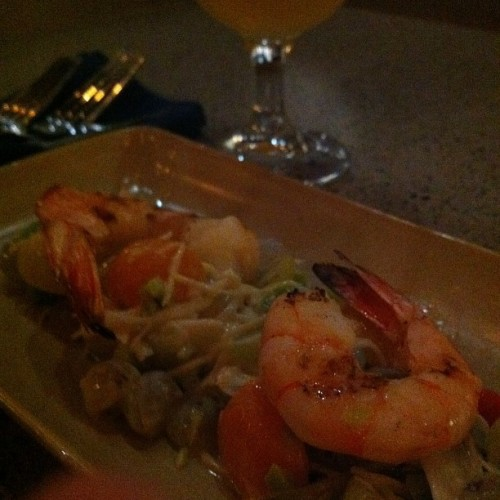 St Bernardus Wit and prawns! (Taken with Instagram)