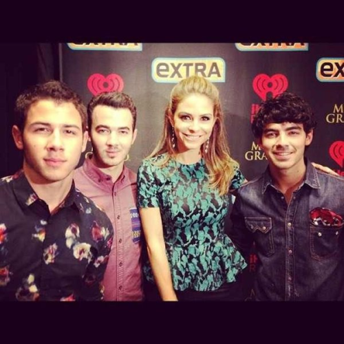 The Jonas Brothers backstage at the iHeartRadio festival!
