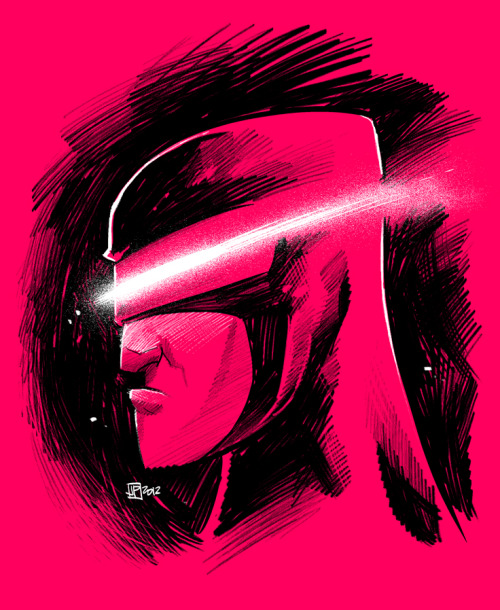 Late night drawing session. Cyclops. Manga Studio EX 4 / Wacom Cintiq.